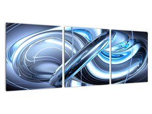 Tablou cu abstracție albastră (V020061V9030)