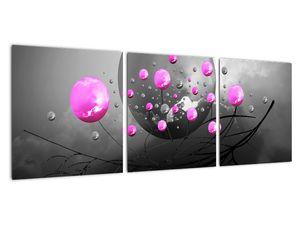 Tablou cu bile roz  (V020105V9030)