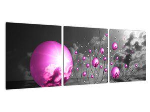 Obraz ružových gulí (V020108V9030)