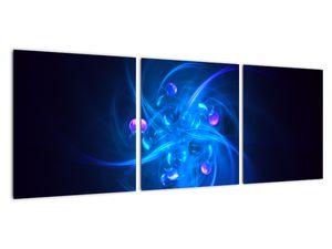 Moderní obraz modré abstrakce (V020137V9030)