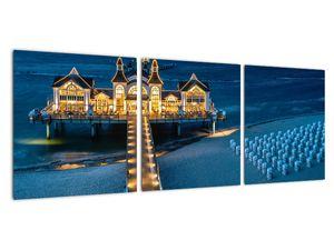 Tablou - hotel pe plajă (V020289V9030)