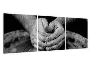 Černobílý obraz - výroba keramiky (V020349V9030)