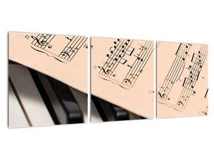 Obraz klavíru s notami (V020365V9030)