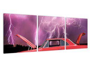Obraz červeného auta (V020409V9030)