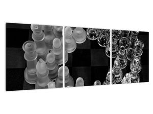 Obraz - černobílé šachy (V020598V9030)