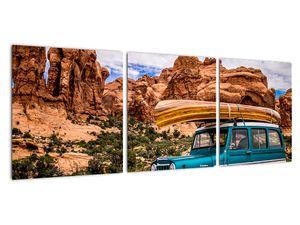 Obraz terenního auta v horách (V020603V9030)