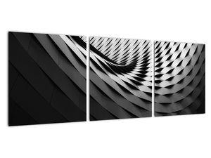 Abstraktní obraz - černobílá spirála (V020667V9030)