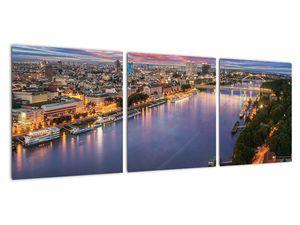 Obraz nočného mesta Bratislavy s riekou (V020706V9030)