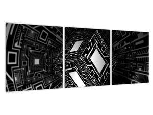 Obraz abstraktní krychle (V020830V9030)
