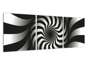 Abstraktní obraz černobílé spirály (V020831V9030)