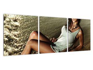 Slika žene na plaži (V020937V9030)