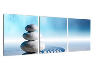 Tablou cu nisip, crin și pietrele spa (V020945V9030)