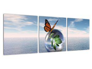 Obraz motýla na skleněné kouli (V021198V9030)
