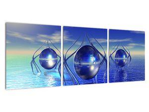 Obraz abstrakce - voda (V021284V9030)
