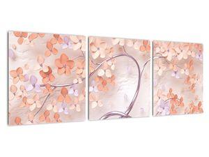 Obraz korálových květů stromu - abstrakt (V021301V9030)
