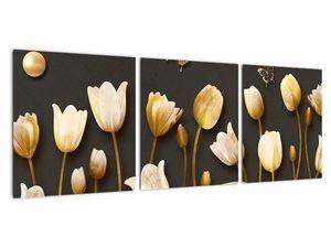 Obraz - Tulipány - abstraktné (V021347V9030)