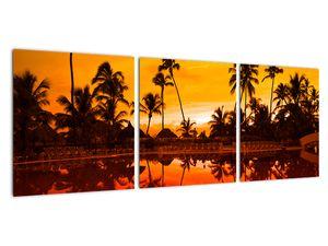 Obraz - Západ slunce nad resortem (V021904V9030)