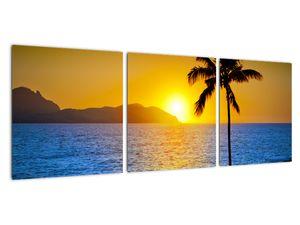Obraz - Západ slunce nad mořem (V021905V9030)