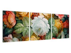 Obraz malované kytice květin (V021943V9030)