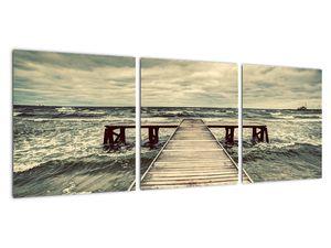 Obraz dřevěného mola na moři (V021949V9030)