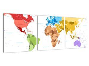 Obraz - Mapa světa (V021973V9030)