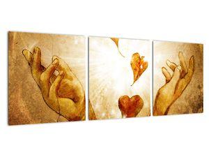 Obraz - Malba rukou plných lásky (V021978V9030)