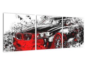 Obraz - Malované auto v akci (V021979V9030)