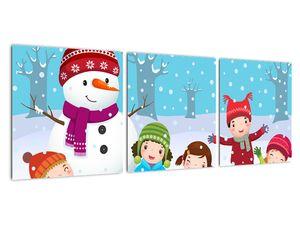 Obraz - Zimní dětské radovánky (V021988V9030)