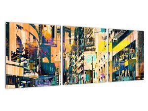 Obraz malované abstrakce (V021990V9030)