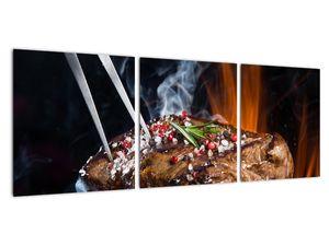 Obraz steaku na grilu (V021992V9030)