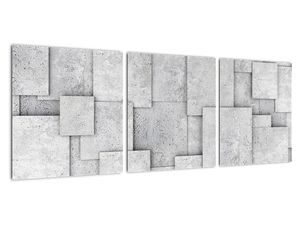 Obraz - Abstrakce betonových kachliček (V021997V9030)