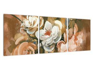 Obraz - Malovaná kytice květin (V022001V9030)