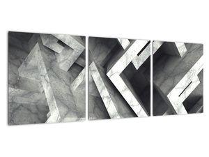 Abstraktní obraz krychlí (V022004V9030)