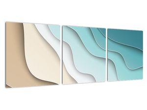 Abstraktní obraz mořského pobřeží (V022047V9030)