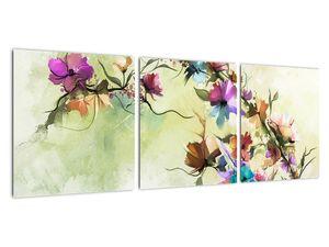 Obraz - Malba pnoucí květiny (V022120V9030)