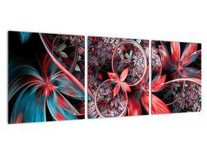 Abstraktní obraz exotických květů (V022145V9030)