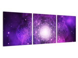 Obraz fialové abstrakce (V022148V9030)