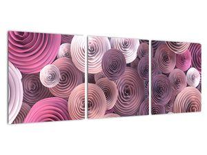 Abstraktní obraz květů růží (V022153V9030)
