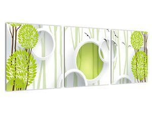 Obraz abstrakce se stromy (V022185V9030)