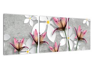 Obraz květinové abstrakce (V022186V9030)