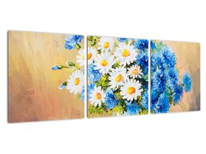 Malovaný obraz vázy květin (V022252V9030)