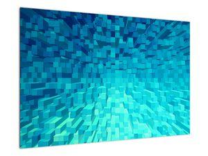 Obraz - abstraktní kostky (V020021V9060)