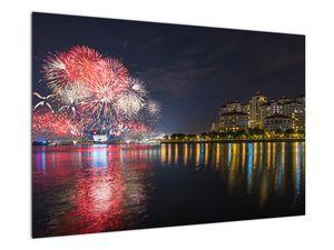 Tablou cu artificii in Singapur (V020035V9060)
