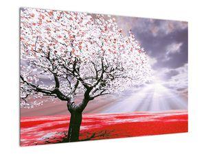 Červený obraz stromu (V020052V9060)