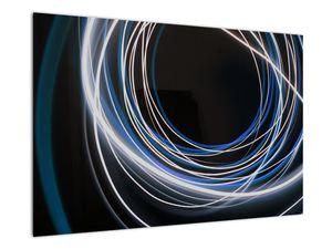 Tablou cu linii albastre (V020053V9060)