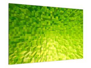 Obraz žlutozelených kostiček (V020057V9060)