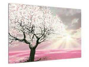 Růžový obraz stromu (V020058V9060)