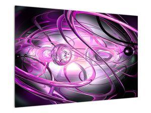 Obraz krásné fialové abstrakce (V020060V9060)