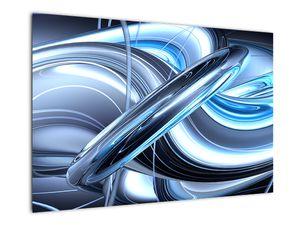 Tablou cu abstracție albastră (V020061V9060)
