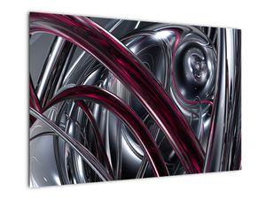 Tablou cu abstracție gri (V020094V9060)